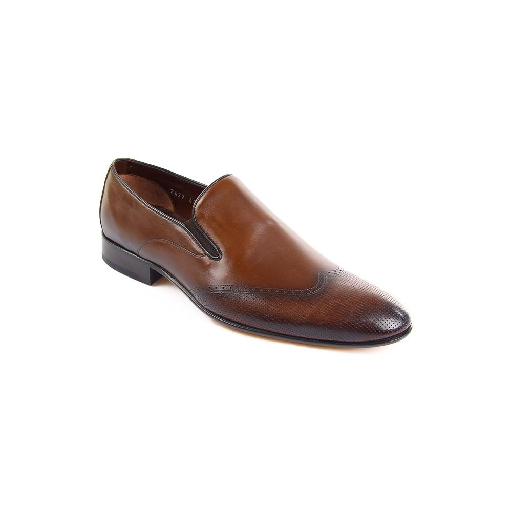 Gön 32479 Taba Antik Deri Erkek Ayakkabı