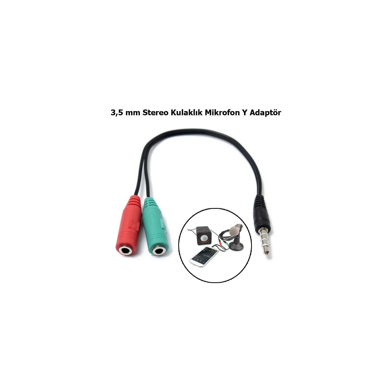 Coverzone Kulaklık Mikrofon Speaker Y Splitter Çift Jack Fiyatı