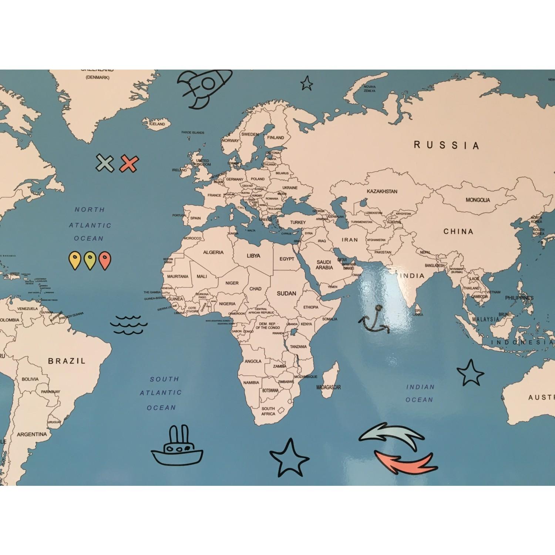 Mapofx Gez Boya Harita Boyanabilir Dünya Haritası Mavi Fiyatı