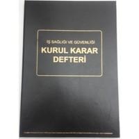 Marka İş Sağlığı Ve Güvenliği Kurulu Karar Defteri 50 Yaprak Otokopili Numaralı Karton Kapaklı