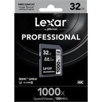 Lexar 32GB 1000x Professional SDHC Hafıza Kartı UHS-II 150MB/sn (LSD32GCRBEU1000)