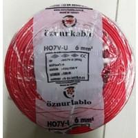 Öznur 6 Mm Nya Kablo Tek Damar Kırmızı 100 Metre
