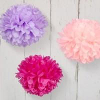 Bebekparti Ponpon Çiçek 3'lü Pembe Fuşya Mor