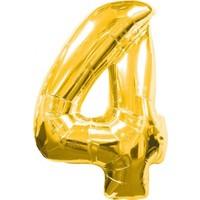 BebekParti 4 Rakam Altın Folyo Balon 100 cm