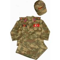 Furkan Giyimasker Çocuk Komando Kostümü 9-10 Yaş