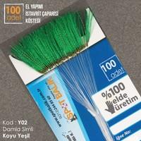 Abari Y02 İstavrit Çinekop Çapari Kösteği Koyu Yeşil 100Ad 9 No Beyaz İğne