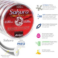 Michigan Sakura Copolymer Monofilament Misina 100M 0,10 mm