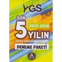 A Yayınları Ygs 5 Yılın Çıkmış Sorularından Oluşan Deneme Pakeri 2012-2016
