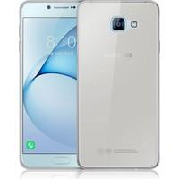 CaseUp Samsung Galaxy A8 2016 Kılıf, CaseUp İnce Şeffaf Silikon + Kırılmaz Cam
