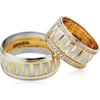 ArtAlyans Altın Özel Tasarım Alyans ART42-0949