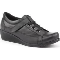 Siber 7503 Deri Günlük Ortopedik Bayan Ayakkabı