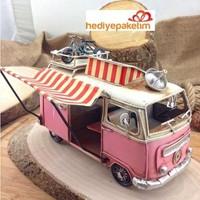 Hediye Paketim Tenteli Pembe Büfe Vosvos Minibüs