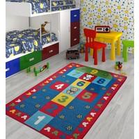 Confetti Seksek Kırmızı Çocuk Halısı 100 x 150 cm