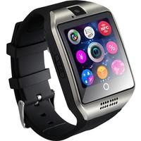 Case 4U Samsung iPhone Sony LG HTC Q18 Akıllı Saat Siyah (IOS ve Android Uyumlu)