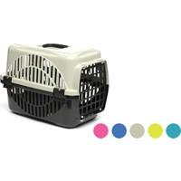 Flip Kedi Köpek Taşıma Kafesi Renkli Gri