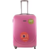 Laguna 2022-1 Pvc Pembe Orta Boy Valiz Bavul