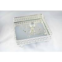 Bilgeden Jardinyer Aynalı Gümüş Kaplama Peçetelik