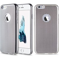 Microcase Apple iPhone 6 PLUS Lazer Kaplama Silikon Kılıf + Tempered Cam Koruma