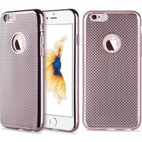 Microcase Apple iPhone 6 - 6S Lazer Kaplama Silikon Kılıf + Tempered Cam Koruma