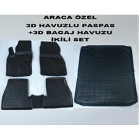 Perflex Ford Focus 2 Paspas+Bagaj Havuzu İkili Set 3D Havuzlu Siyah