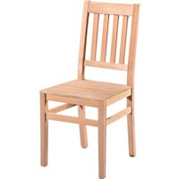 Masifart 7202 4 Çıtalı Izgaralı Sandalye Cilasız Ahşap