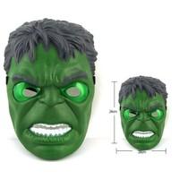 Marvelavengers Süper Kahramanlar Hulk Işıklı Maske