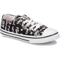 Kinetix Denni Print Siyah Beyaz Kız Çocuk Sneaker Ayakkabı