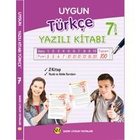 Sadık Uygun Yayınları 7.Sınıf Türkçe Yazılı Kitabı