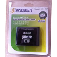 Techsmart All In One Kart Okuyucu + 3 Port Usb Çoklayıcı