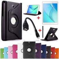 Mustek Samsung Galaxy Tab T580 T585 T587 360 Dönerli Tablet Kılıf+Film+Kalem+Otg Kablo