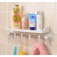 Fdm Raflı Ve Kancalı Vantuzlu Banyo Askısı