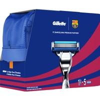 Gillette Mach3 Turbo Özel Barselona Serisi Tıraş Makinesi + 4'lü Tıraş Bıçağı + 75 ml Jel (Çanta Hediyeli!)