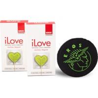Eros iLove Normal Prezervatif 2 Paket ve 1 adet Eros Bardak Altligi Hediye