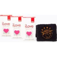 Eros iLove Kabartmali Prezervatif 3 Paket ve 1 adet Eros El Havlusu Hediye