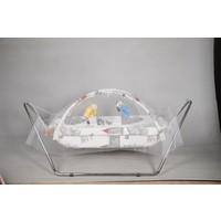 Yıldız Bebe Oyuncaklı Tüllü Bebek Beşik Hamak 0 - 5 Yaş Metal