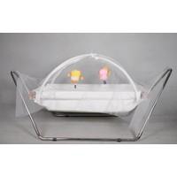 Yıldız Bebe Oyuncaklı Tüllü Bebek Beşik Hamak 0 - 3 Yaş Metal