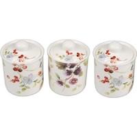 Setabıanca Kavanoz Seti Berry Flower 700Ml 3Lu