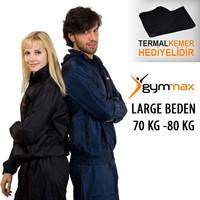 Gymmax Large Beden - 70 Kg -80 Kg Sauna Eşofmanı + Termal Kemer