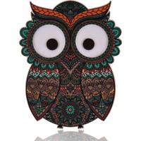 Purupa Baykuş Dekoratif Obje (Gözleri Işıklı)
