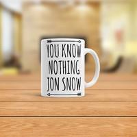KFBimilyon Game Of Thrones You Know Nothing John Snow Baskılı Kupa Bardak