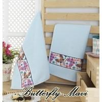 Maxstyle Mutfak Havlusu 2'li 40 x 60 Cm - Butterfly-Mavi