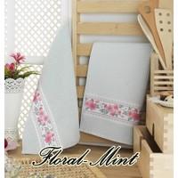 Maxstyle Mutfak Havlusu 2'li 40 x 60 Cm - Floral-Mint