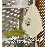 Maxstyle Mutfak Havlusu 2'li 40 x 60 Cm - Krem-Yeşil