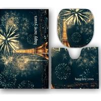 Melay Pariste Yeni Yıl Banyo Paspas Klozet Set
