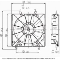 Ypc Honda Accord- 03/08 Radyatör Fan Davlumbazı Komple Plastik (2.4Cc) V6 (5Kanat)