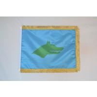 Bayrakal Göktürk Bayrağı Çift Kat Saten Simli 50x75cm.