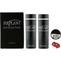 Fixplant Koyu Kahve 25 gr + Alkolsüz Saç Spreyi Saç Fiberi