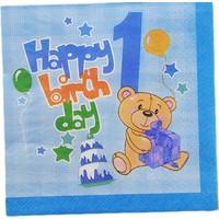 Tahtakale Toptancısı Kağıt Peçete 1 Yaş Happy Birthday Ayıcıklı (20 Adet)