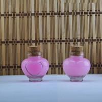 Tahtakale Toptancısı Şişe Cam Mantar Tıpalı Kalp Tombul Modeli 40 Cc (50 Adet)