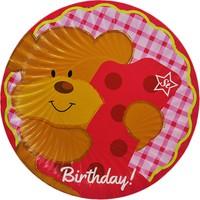 Tahtakale Toptancısı Tabak Karton 1 Yaş Ayıcıklı Birthday Yazılı 23 Cm (8 Adet)